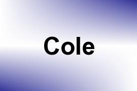 Cole name image
