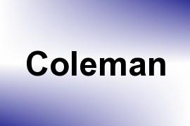 Coleman name image