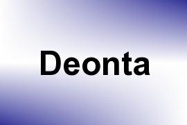 Deonta name image