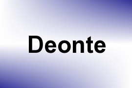 Deonte name image