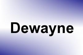 Dewayne name image