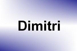 Dimitri name image