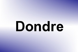 Dondre name image