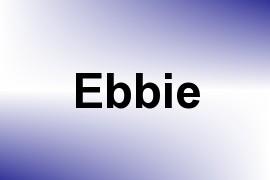 Ebbie name image