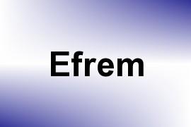 Efrem name image