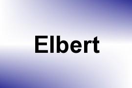 Elbert name image