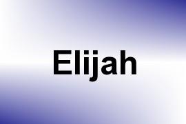 Elijah name image