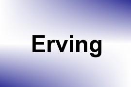 Erving name image