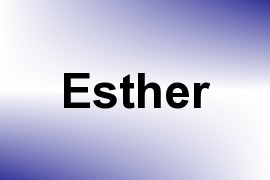 Esther name image