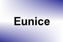 Eunice name image