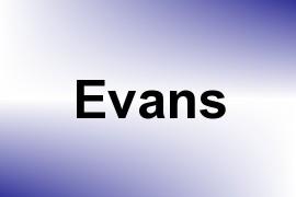 Evans name image