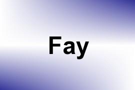 Fay name image