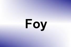 Foy name image