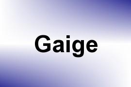 Gaige name image