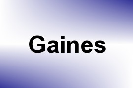Gaines name image