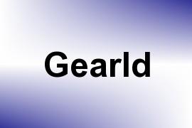Gearld name image