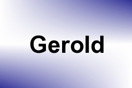 Gerold name image