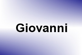 Giovanni name image
