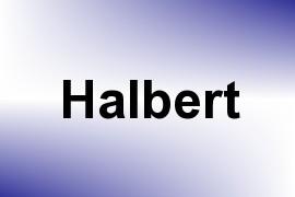 Halbert name image