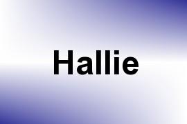 Hallie name image