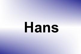 Hans name image