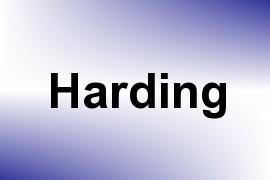Harding name image
