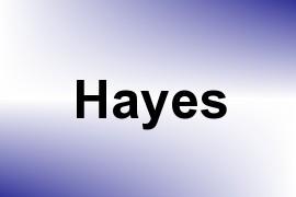 Hayes name image