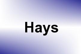Hays name image