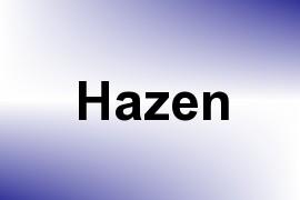 Hazen name image