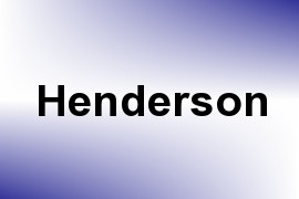 Henderson name image