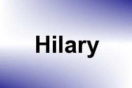 Hilary name image