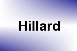 Hillard name image
