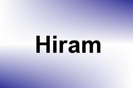 Hiram name image