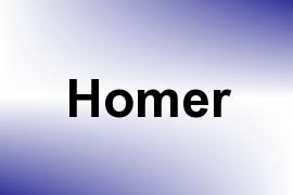 Homer name image