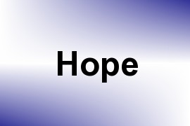 Hope name image