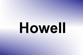 Howell name image