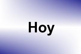 Hoy name image