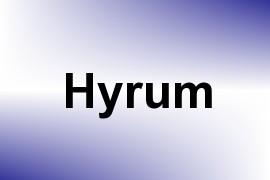 Hyrum name image