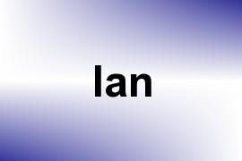 Ian name image