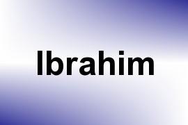 Ibrahim name image
