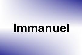 Immanuel name image