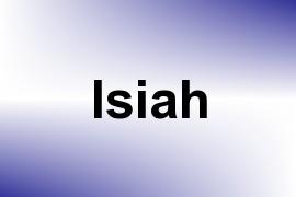 Isiah name image
