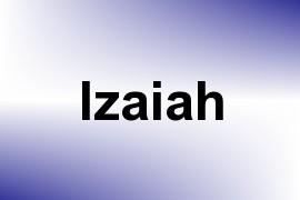 Izaiah name image