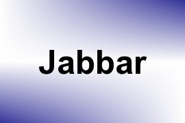Jabbar name image