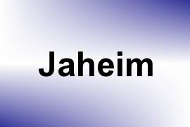 Jaheim name image