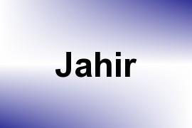 Jahir name image
