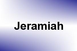 Jeramiah name image