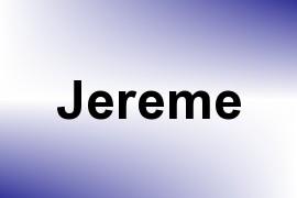Jereme name image