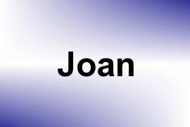 Joan name image