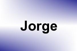 Jorge name image